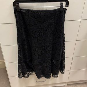 DKNY trumpet lace skirt
